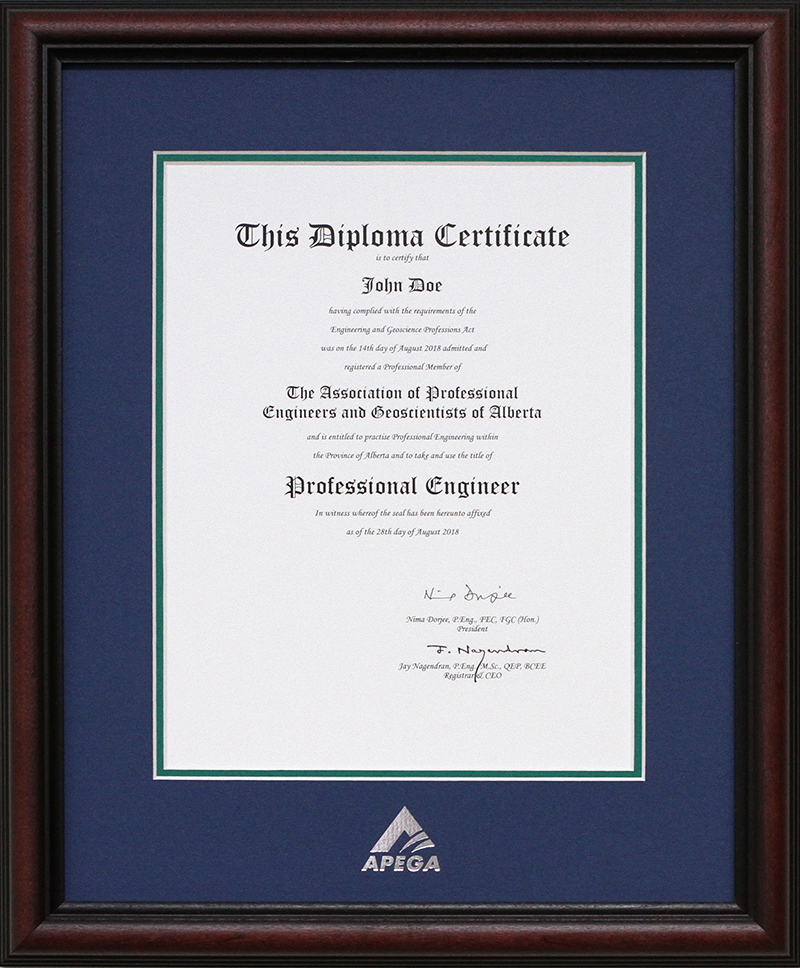 order frames for your apega certificates apega