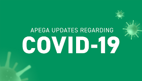 Text image: APEGA updates regarding COVID-19