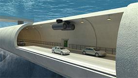 Artist's rendering of the floating tunnel courtesy Snøhetta
